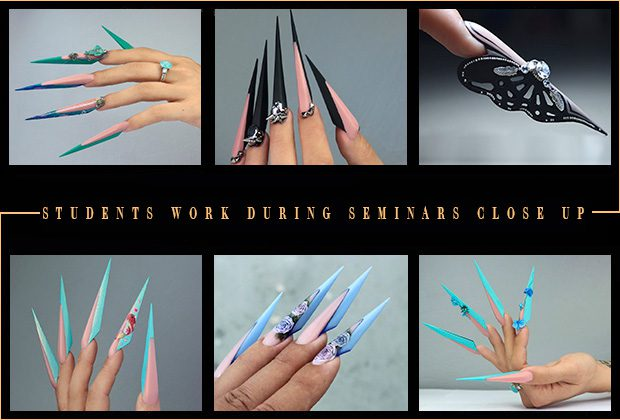 Nail art educations students works