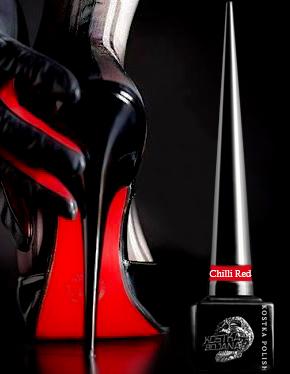 Kostka Gel polish Chili Red Soak